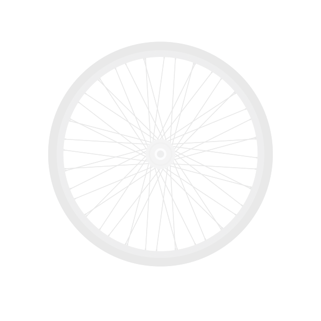 Košík na bicykel predný oceľový White - biely