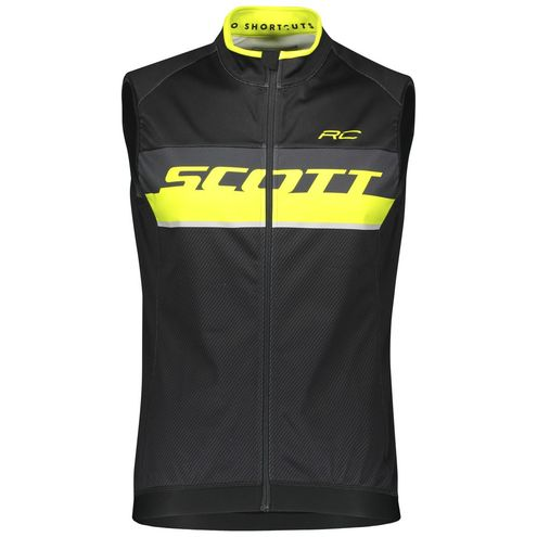 Scott RC AS WP Vest black/sulphur yellow 2019 vesta