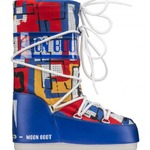 Moon Boot JR BOY ABSTRACT royal blue/ yellow